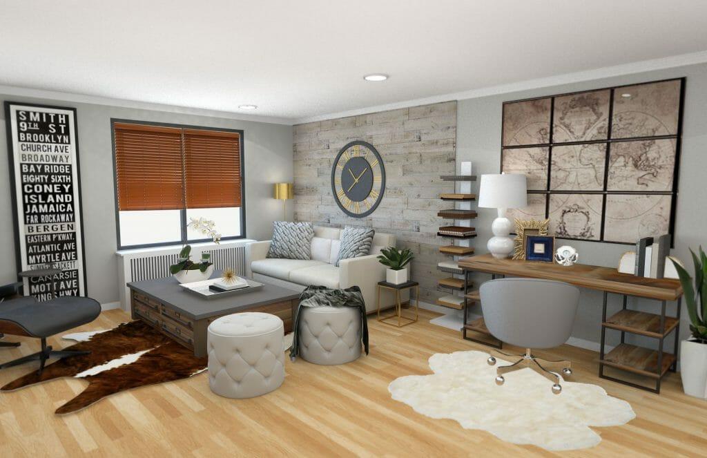 Before & After: Modern Rustic Living Room Design Online