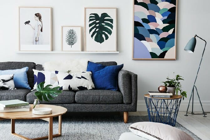 Before \ After Mid Century Modern Living Room Design Online - mid century modern living room
