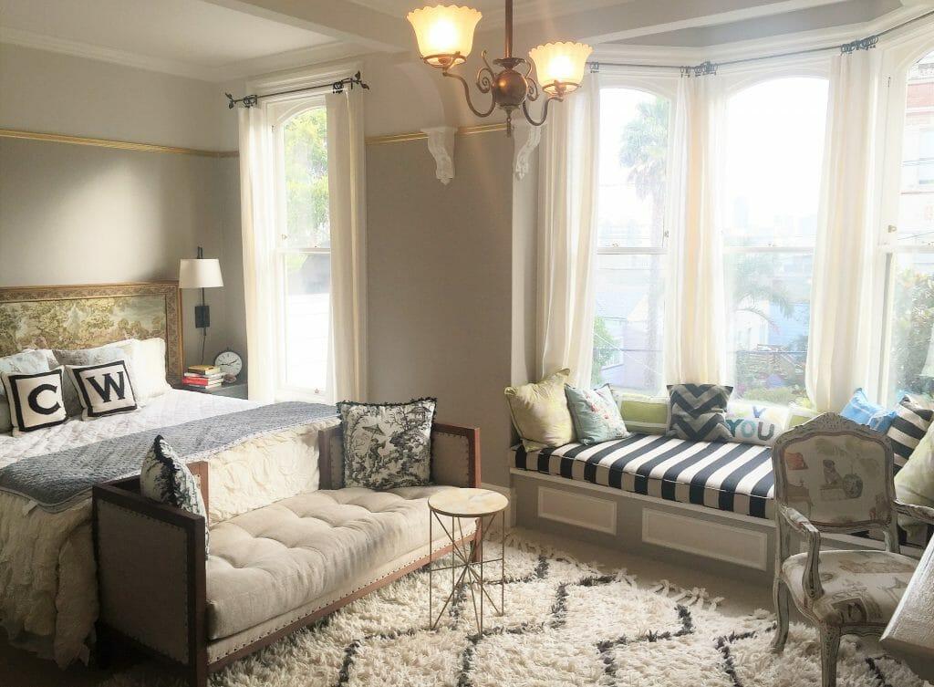 Before \ After Transitional Online Interior Designer Bedroom - design bedroom online