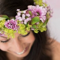 Bohemian Flowerpower - romantischer Blumenkranz selbstgemacht