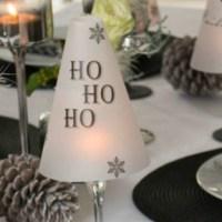 DIY Tischlämpchen für die gedeckte Weihnachtstafel