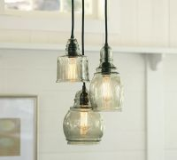 Pottery Barn Paxton Glass 3-Light Pendant | Decor Look Alikes