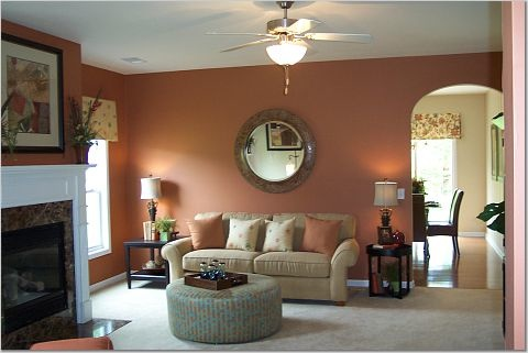 Orange\/Peach Living Room Walls? u2014 thenest - peach living room