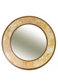 "Buy 24"" Gold Round Crackled Glass Mosaic Decorative Wall ..."