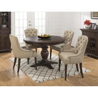 Geneva Hills Round to Oval 5 Piece Dining Set with ...