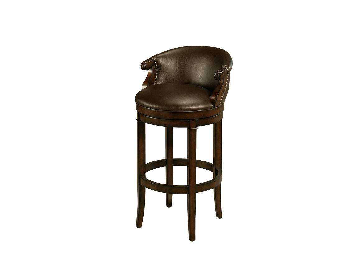 princetown swivel bar stool distressed cherry amp leather ridge finish