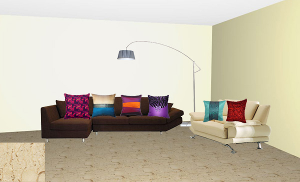 What Color Cushions Go With My Dark Chocolate And Beige