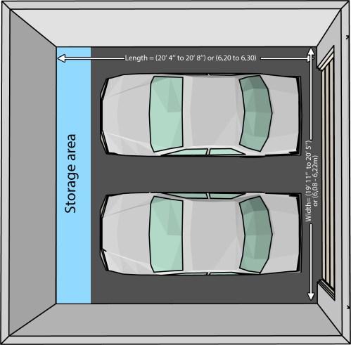 Medium Of Two Car Garage Size