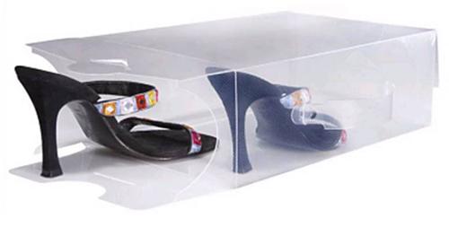Bo tes chaussures transparentes l astuce du jour - Boite de rangement chaussures transparentes ...