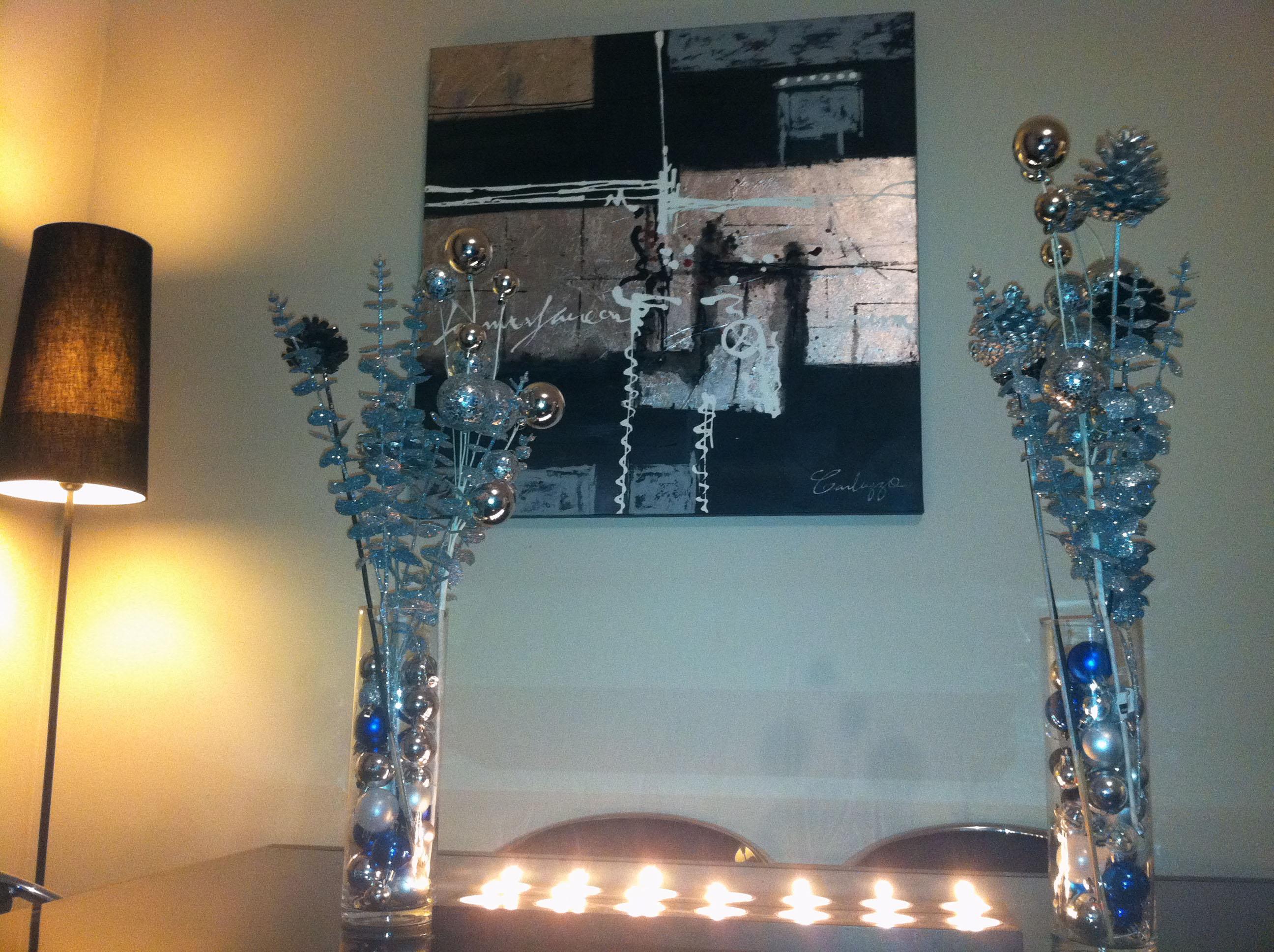 Meilleur 5693 id e d co table noel bleu argent avec des for Deco de noel bleu et argent