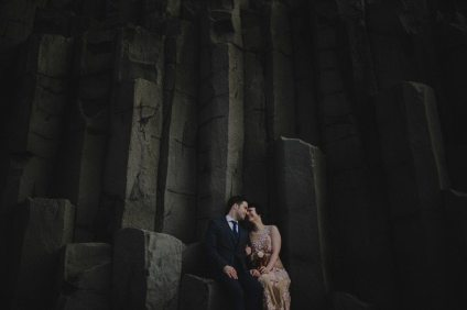 1920s Bride + Groom | Iceland Wedding