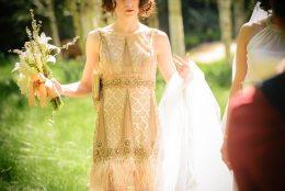 1920s flapper bride