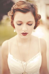 1920s Wedding Makeup