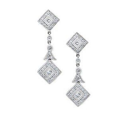 1920s Diamond Earrings