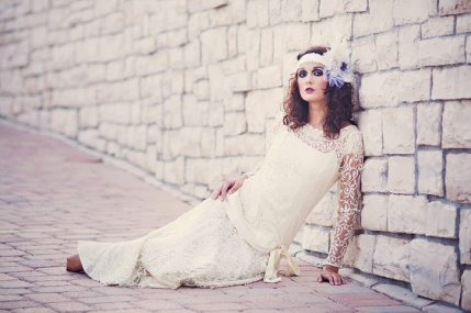 Vintage Beach Wedding || Flapper Dress