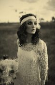 Vintage Beach Wedding || Flapper Bride