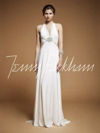 Art Deco Wedding Dress || Jenny Packham Lilac