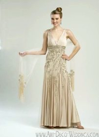 Sue Wong Beaded Art Deco Gown N1352