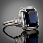 Art Deco Sapphire Ring || Vintage Jewelry