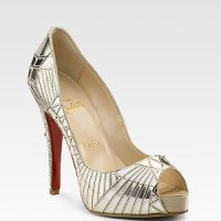 Art Deco Shoes || Silver + Gold Bridal Shoes