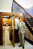 Bride Groom in Vintage Phonebooth