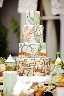 Art Nouveau Wedding Cake