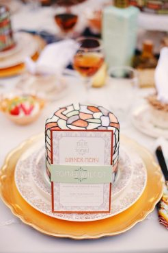 Art Nouveau Menu || Art Nouveau Wedding Inspiration