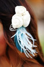 Blue Art Nouveau Fascinator || Art Nouveau Wedding Inspiration