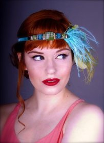 Blue Deco Headband
