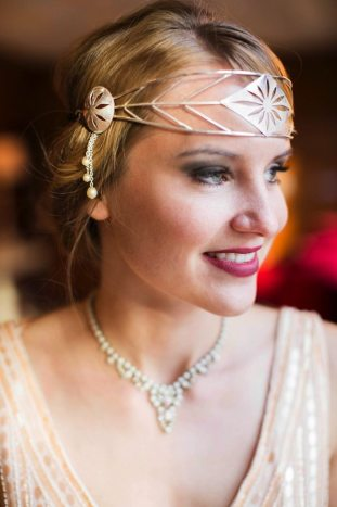 Art Deco Headband Gold