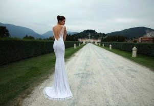 Art Deco Wedding Gown Back || Berta