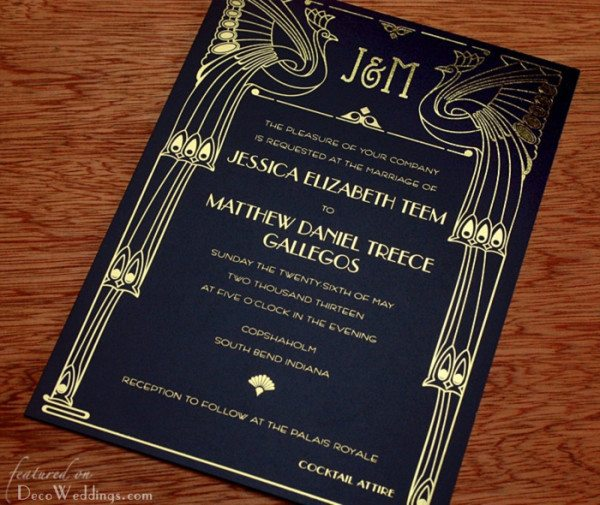 Art Deco Wedding Invitations Deco Weddings