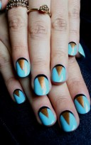 Blue Art Deco Manicure