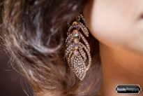 Deco Feather Crystal Earrings