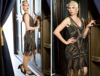 Gold + Black Deco Dress