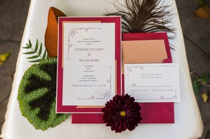Red and Gold Art Deco Invitations