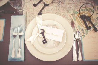 Vintage Travel Plate || Wedding Place Setting
