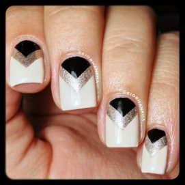 White Art Deco Manicure