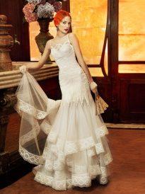 1920s Style Wedding Gown - Yolan Cris Monaco