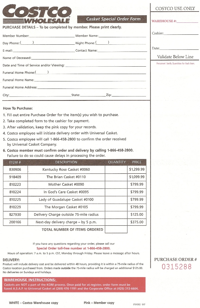 costco party platters order form