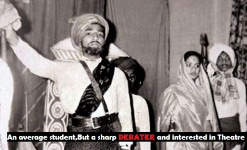 Modi was an average student,But a sharp debater and interested in Theatre