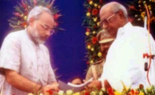 modi Sworn in as the Chief Minister of Gujarat on 7th October 2001.