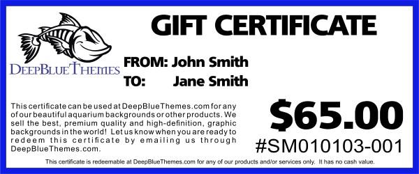 Gift Certificates - DeepBlueThemes