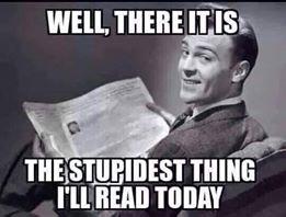 stupidesthingI'llreadtoday