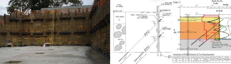 Retaining Wall Design - Deep Excavation - design of retaining walls examples