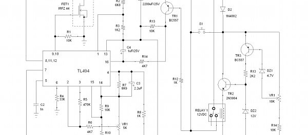 music controlled disco light circuit with automatic level control