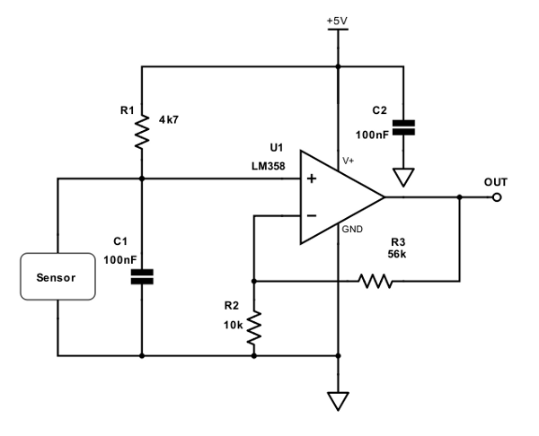 picture thermocouple signal conditioning circuit as shown below
