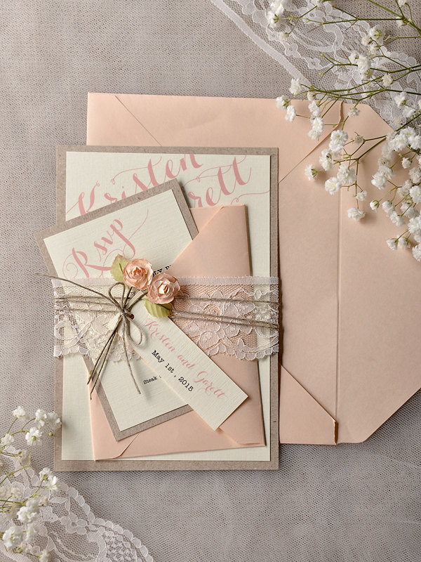 TOP 30 Chic Rustic Wedding Invitations from 4lovepolkadots Deer