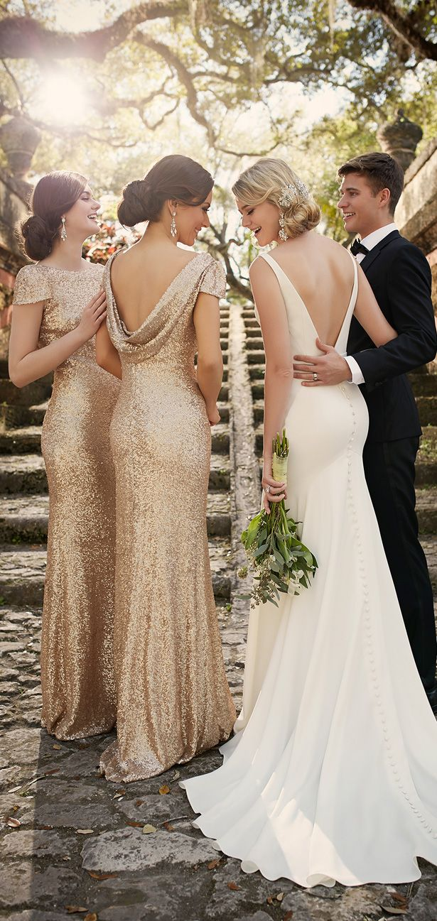 52 perfect low back wedding dresses rustic wedding dresses Backless Wedding dress by Essense of Australia
