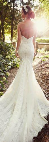 52 perfect low back wedding dresses low back wedding dress Essense of Australia Backless Lace Mermaid Wedding Dress